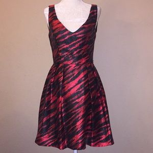 French Connection  Red & Black Dress